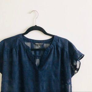 banana republic factory | sheer windowpane blouse